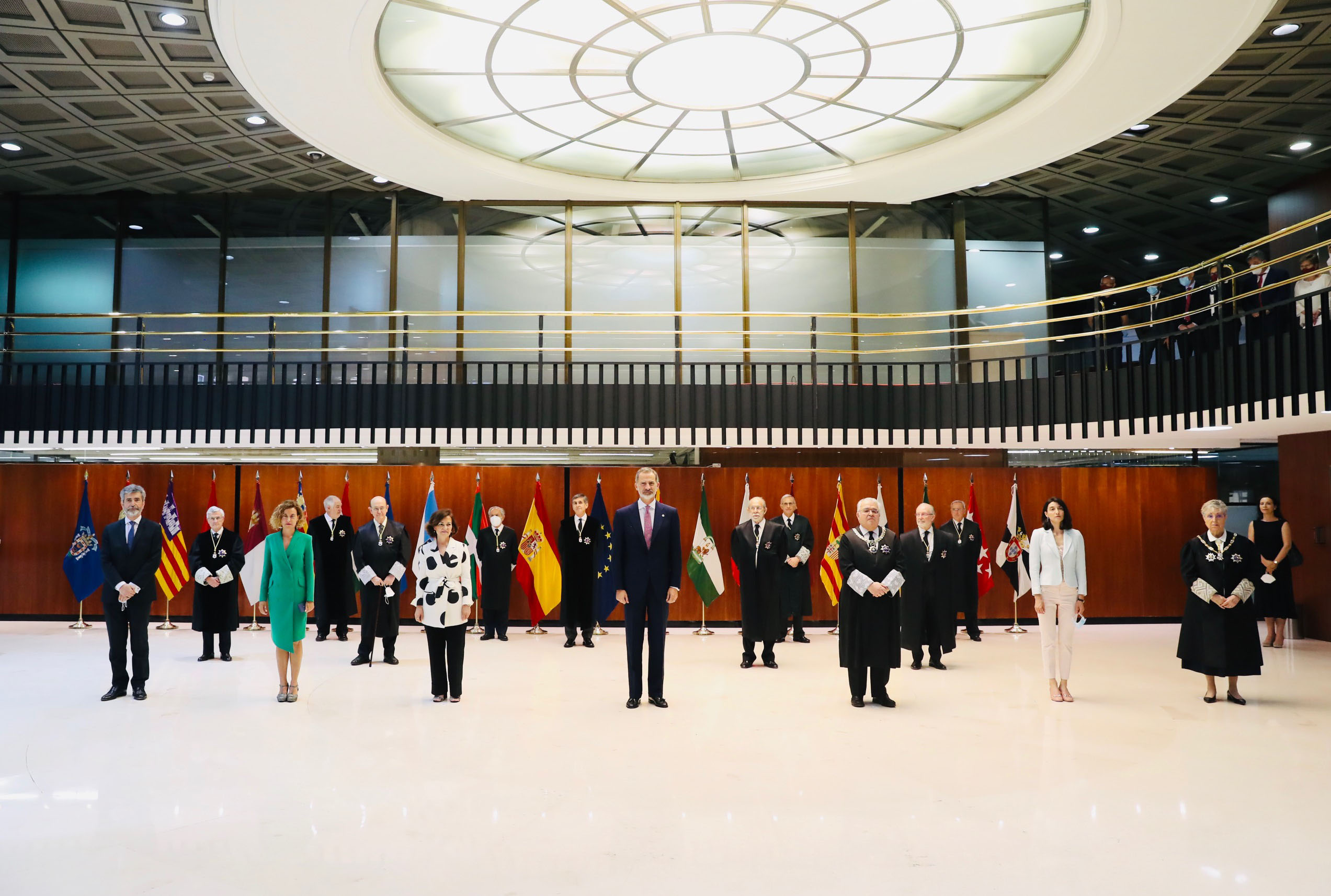 6/07/2020. Carmen Calvo attends commemoration of 40th anniversary of Constitutional Court