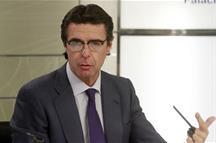 El ministro de Industria, Energía y Turismo, José Manuel Soria, en la rueda de prensa (Foto: Pool Moncloa)